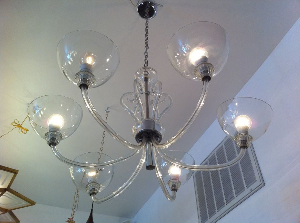 Seventies Bohemian Glass Chandelier For Sale At 1stdibs