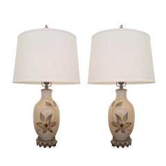 1940s Porcelain Table Lamps