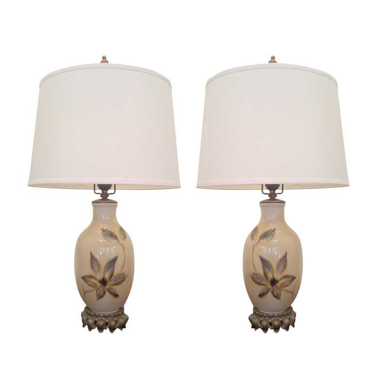 1940s porcelain table lamps for sale at 1stdibs 1940s porcelain table lamps 1 mozeypictures Images