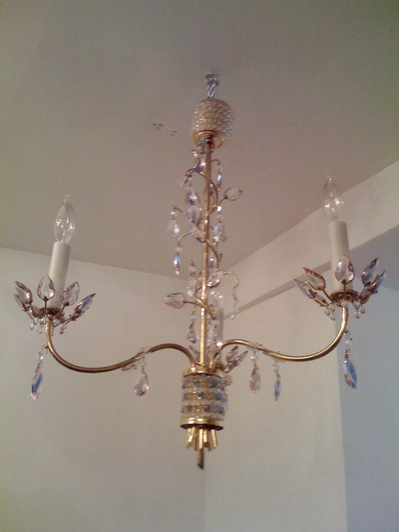 Jl Lobmeyr Colored Crystal Chandelier For Sale 3