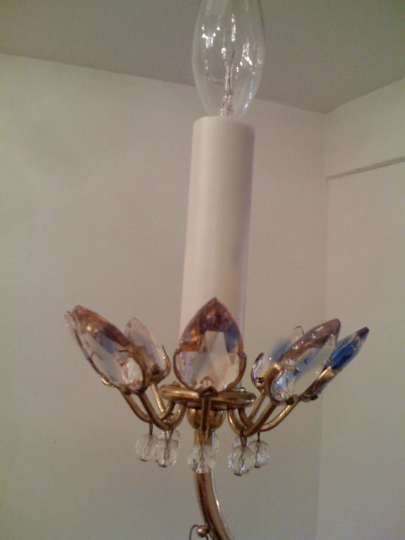 Jl Lobmeyr Colored Crystal Chandelier In Excellent Condition For Sale In New York, NY