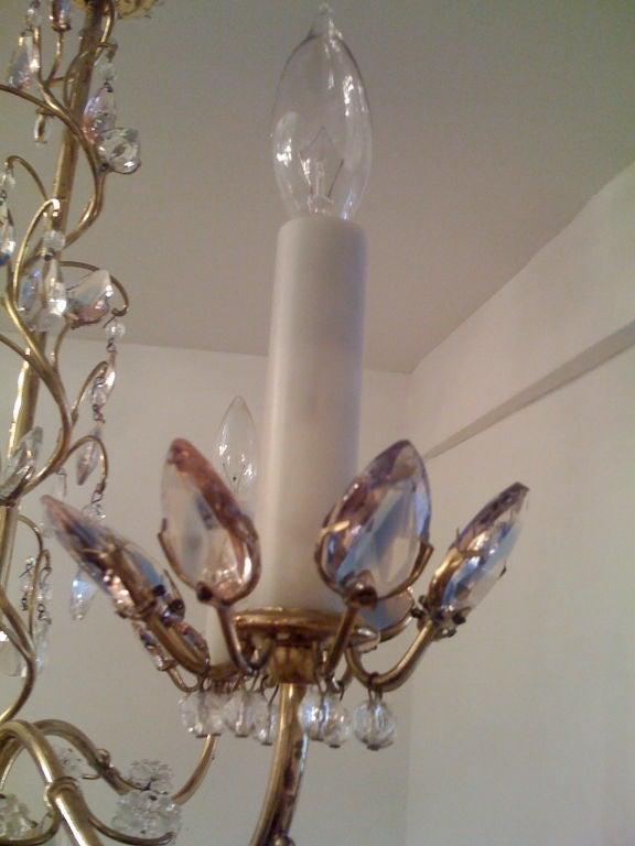 Jl Lobmeyr Colored Crystal Chandelier For Sale 1