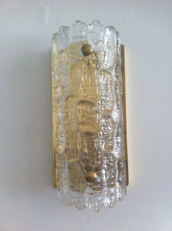 Pair of Orrefors Glass Fifties Sconces image 2