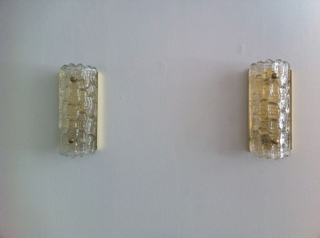 Pair of Orrefors Glass Fifties Sconces image 6