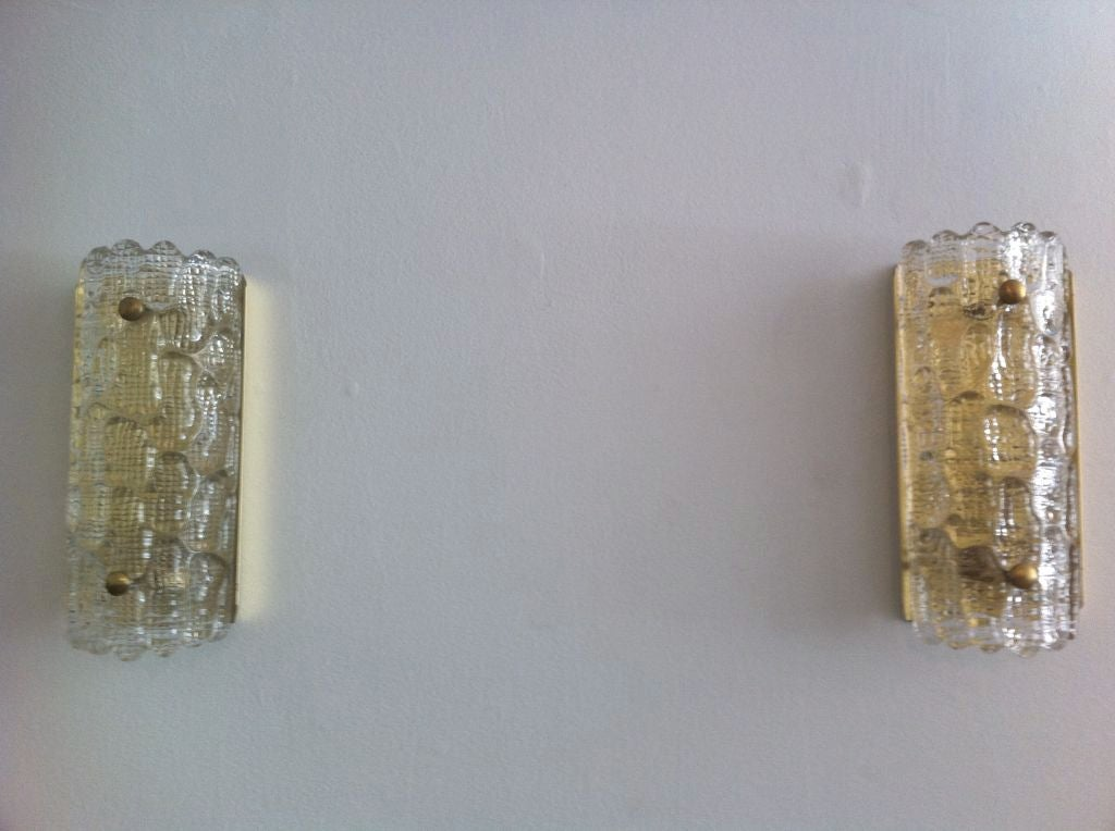 Pair of Orrefors Glass Fifties Sconces image 9