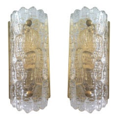 Pair of Orrefors Glass Fifties Sconces thumbnail 1
