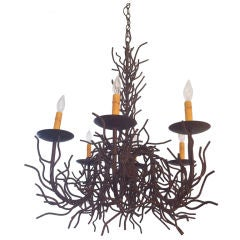 Coral Iron Chandelier