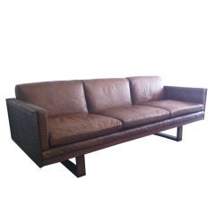 France and Son 60's Leather Sofa