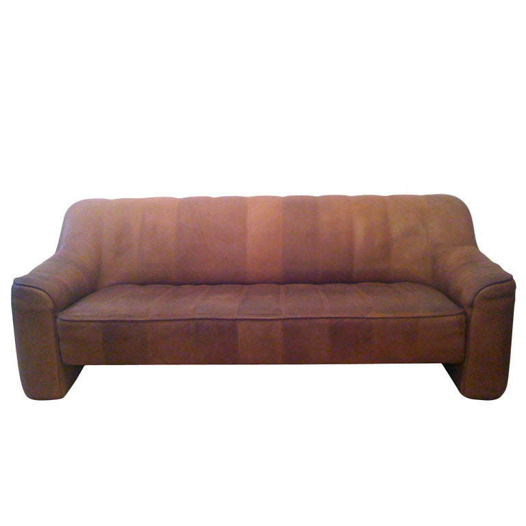 De sede 70 39 s bull leather sofa at 1stdibs for Sofa 1 70 breit