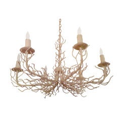 1960s White Coral Chandelier
