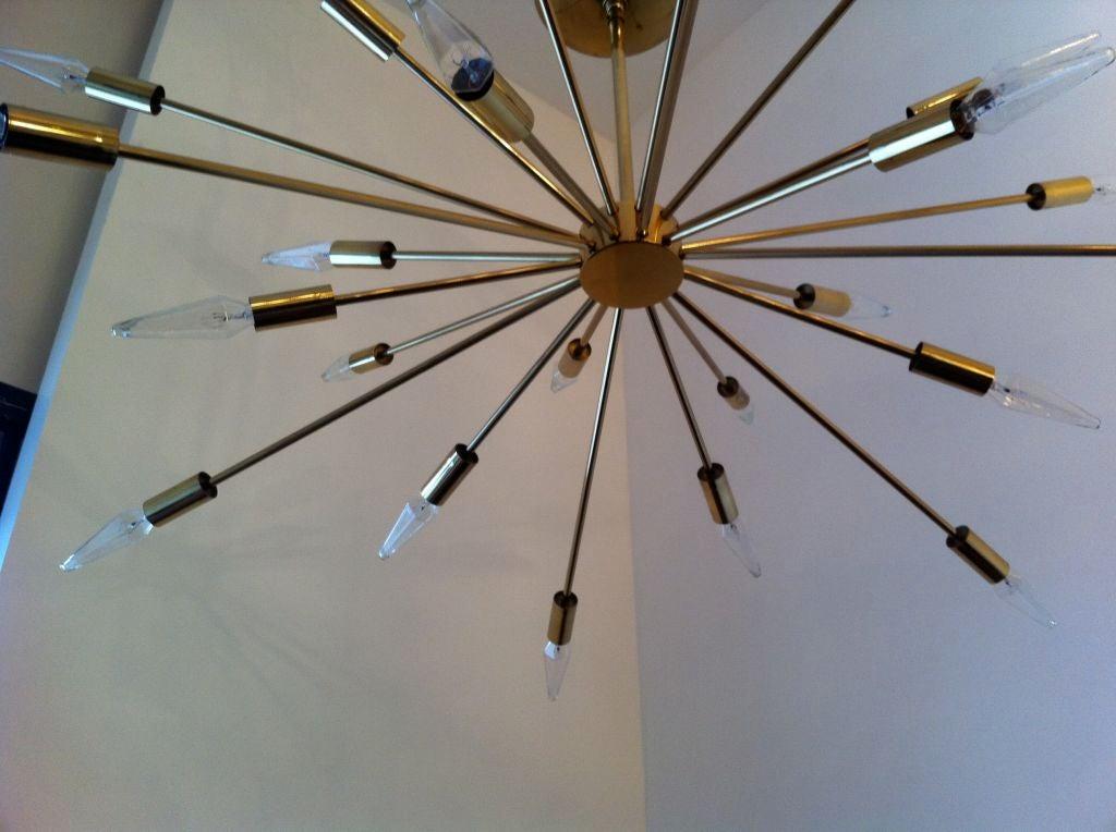 Brass Sarfatti Astral Sputnik Chandelier For Sale