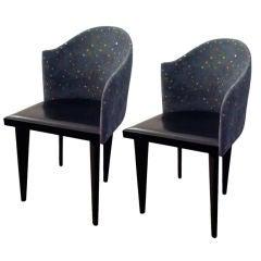 Pair of 80's Saporiti Chairs (4)