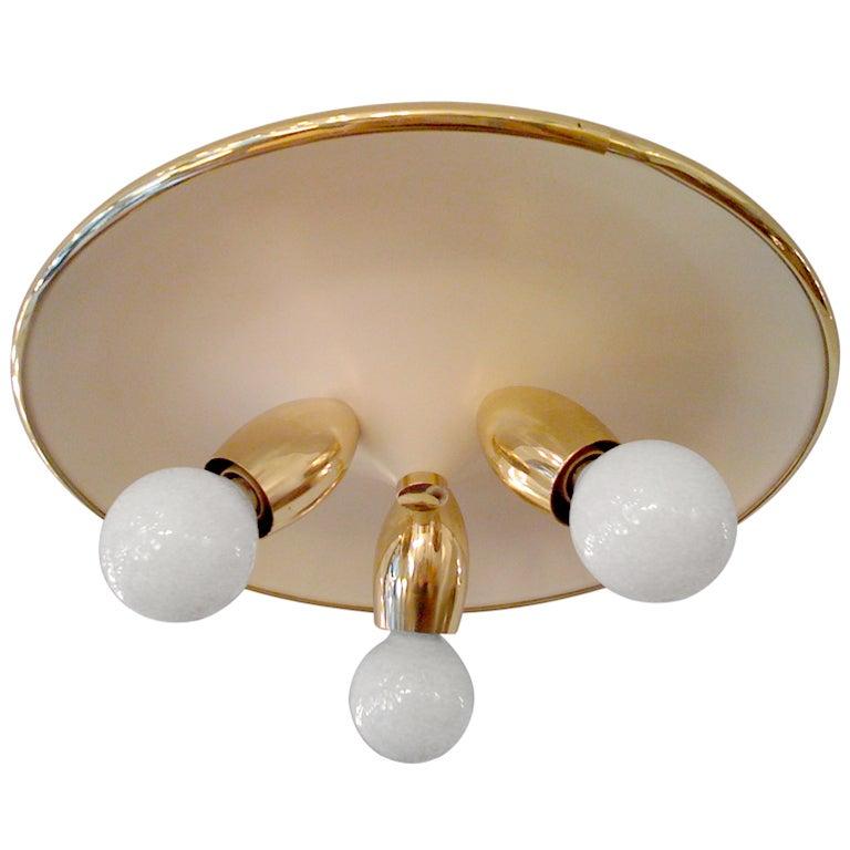 Italian 1950s Flush Light
