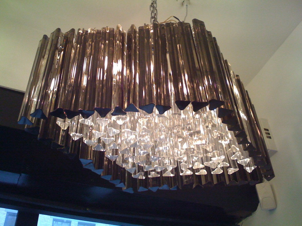 Mid-Century Modern Venetian Prism Chandelier For Sale