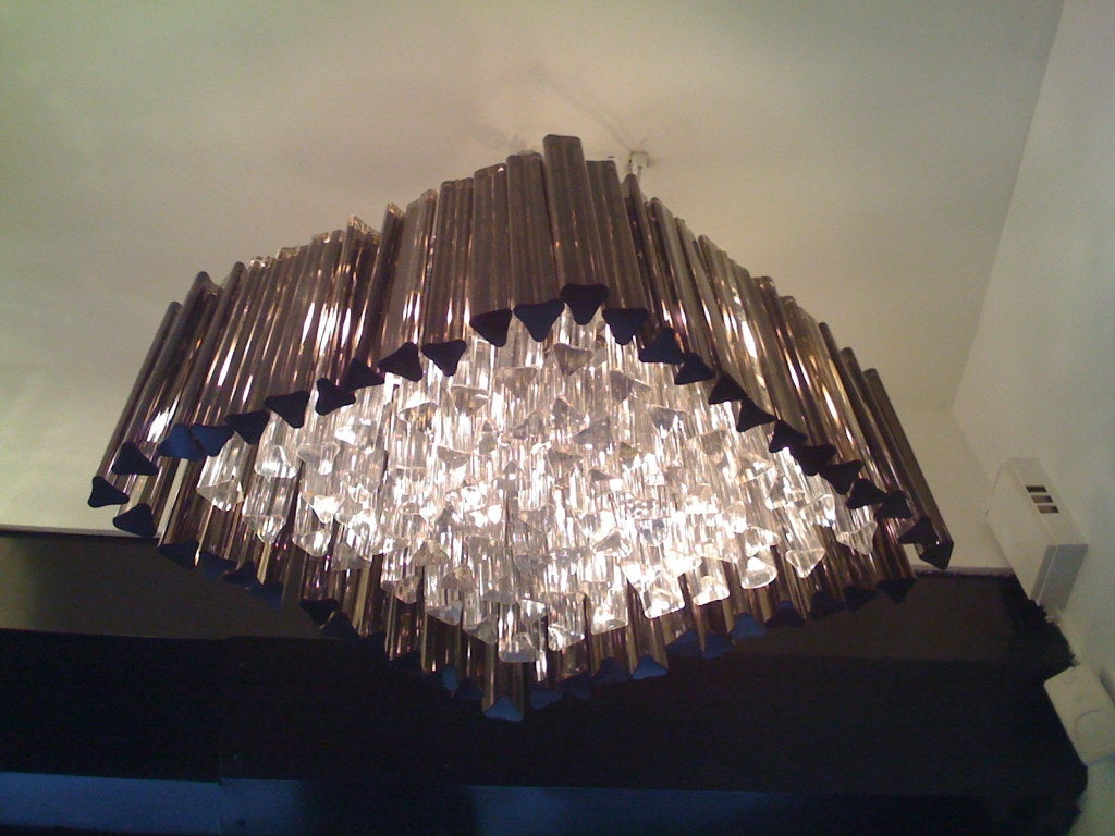 Italian Venetian Prism Chandelier For Sale