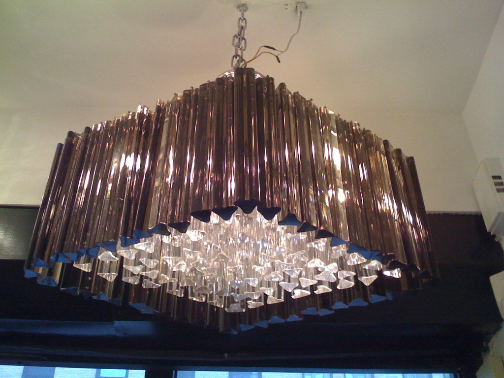 Venetian Prism Chandelier In Excellent Condition For Sale In New York, NY