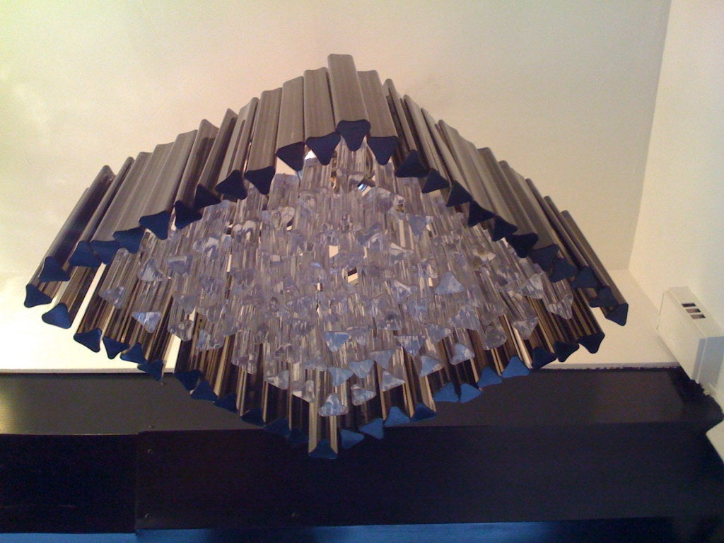Mid-20th Century Venetian Prism Chandelier For Sale
