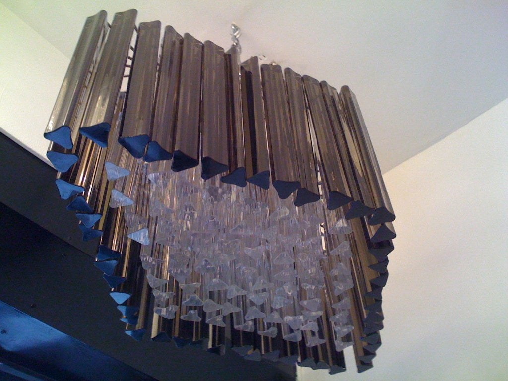 Glass Venetian Prism Chandelier For Sale