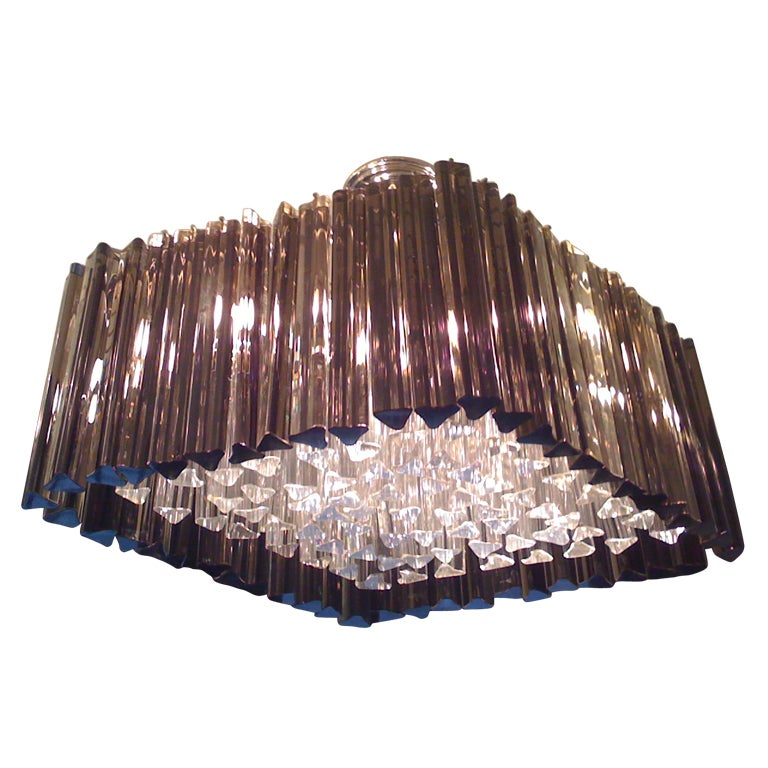 Venetian Prism Chandelier For Sale
