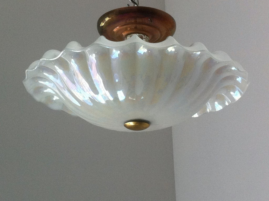 1930 art deco flush glass ceiling light for sale at 1stdibs 1930 art deco flush glass ceiling light for sale 1 mozeypictures Gallery