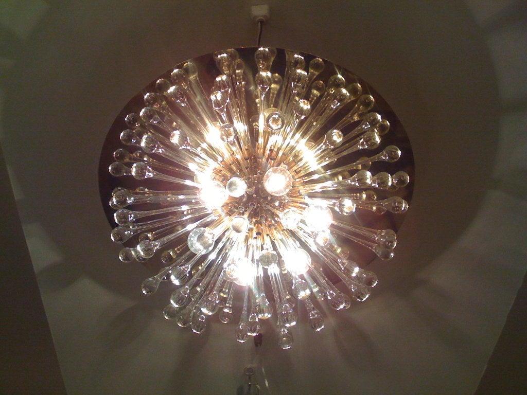 Flush Italian Dandelion Chandelier For Sale 4