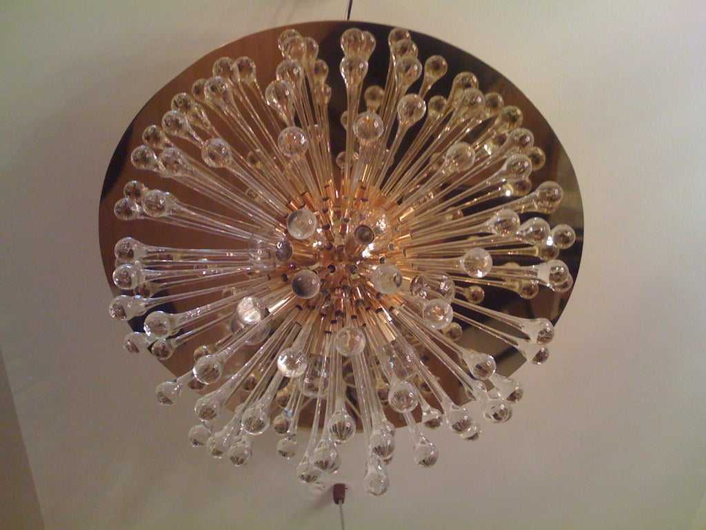 Flush Italian Dandelion Chandelier In Excellent Condition For Sale In New York, NY
