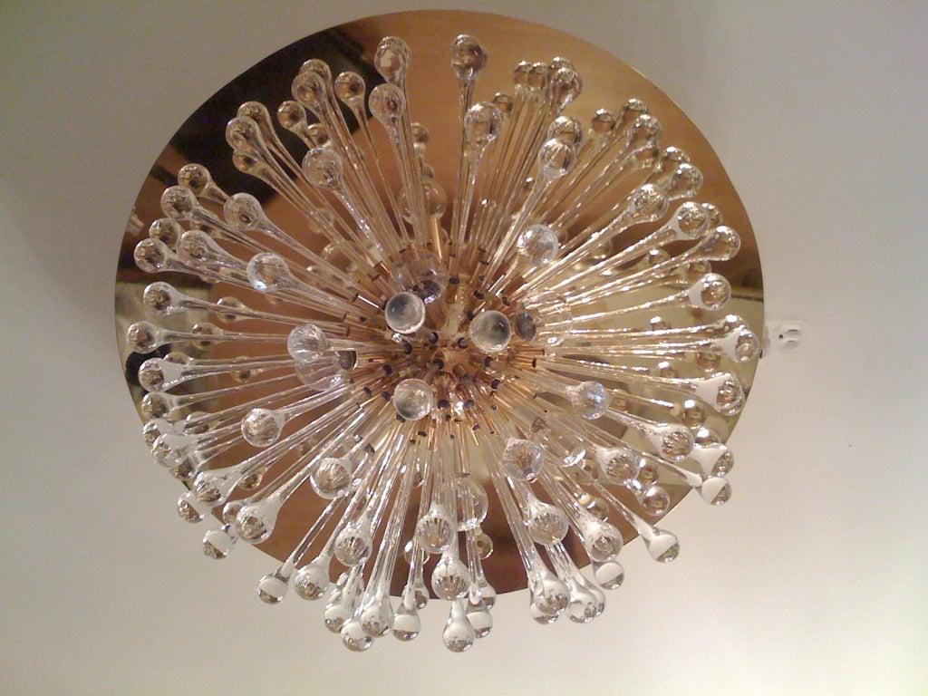 Mid-20th Century Flush Italian Dandelion Chandelier For Sale