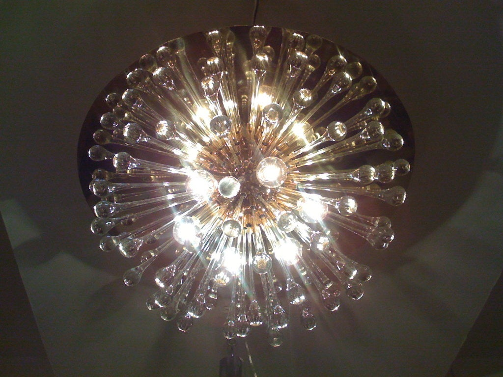 Flush Italian Dandelion Chandelier For Sale 1