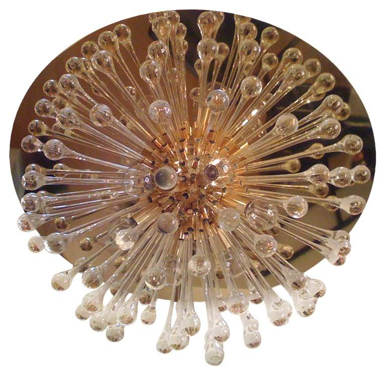 Flush Italian Dandelion Chandelier For Sale