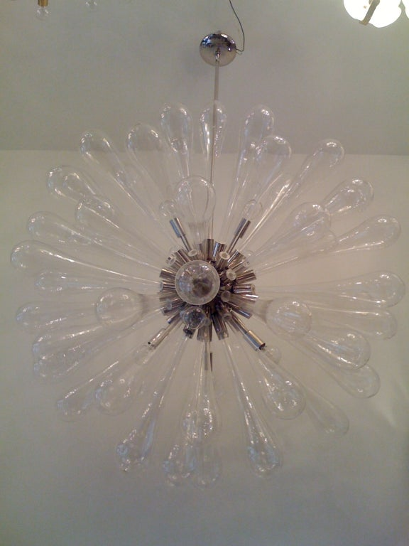 Large Murano Blown-Glass Chandelier For Sale 4