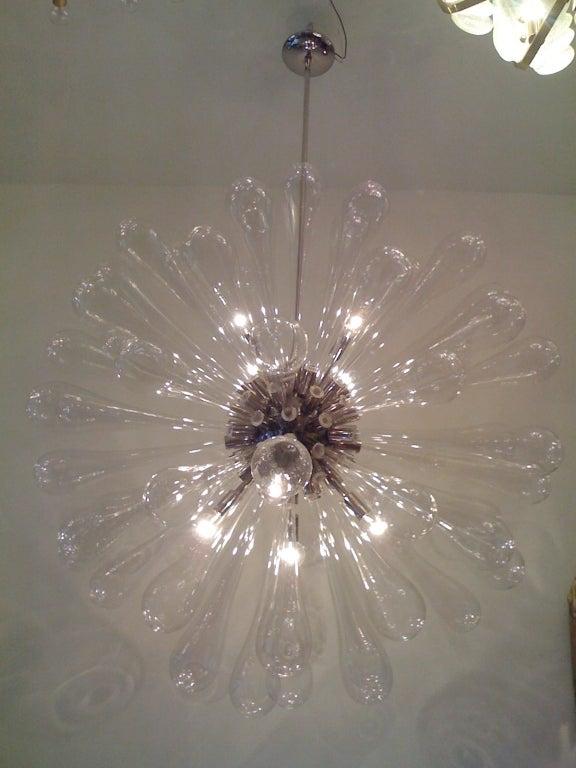 Italian Large Murano Blown-Glass Chandelier For Sale