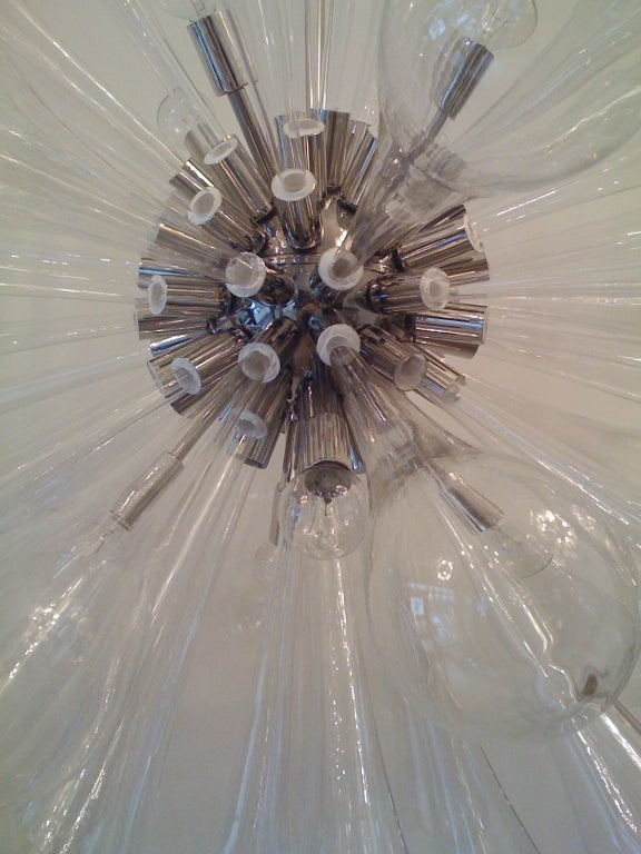 Large Murano Blown-Glass Chandelier For Sale 2
