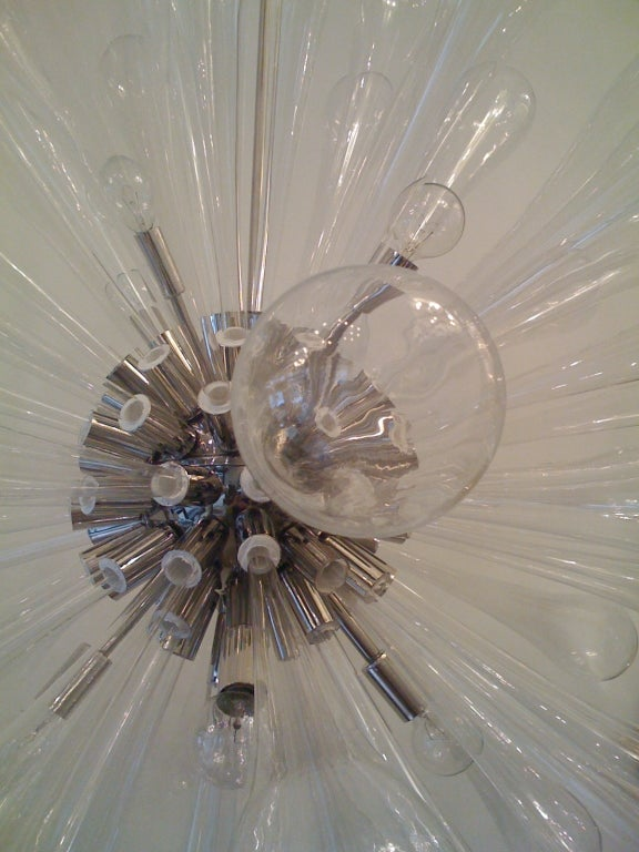 Large Murano Blown-Glass Chandelier For Sale 3