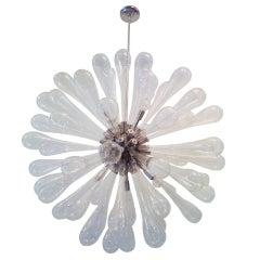 Large Murano Blown-Glass Chandelier