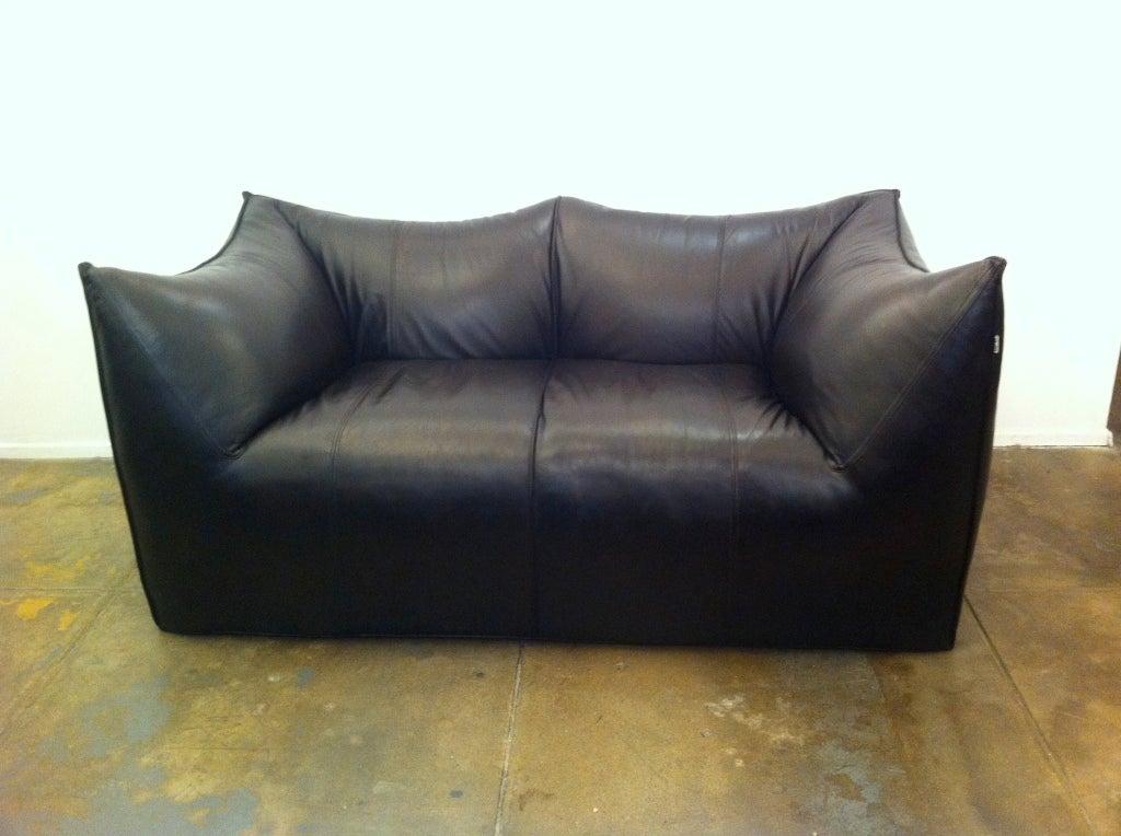 Mario Bellini Leather Le Bambole Sofa At 1stdibs