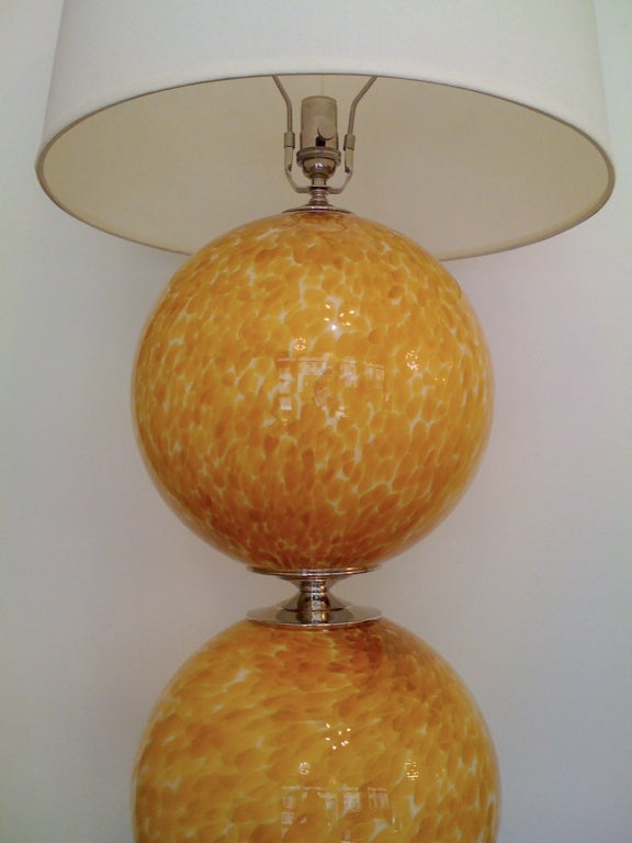 Pair of Murano 1960s Table Lamps For Sale 3