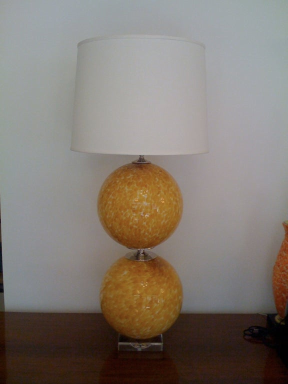 Mid-Century Modern Pair of Murano 1960s Table Lamps For Sale