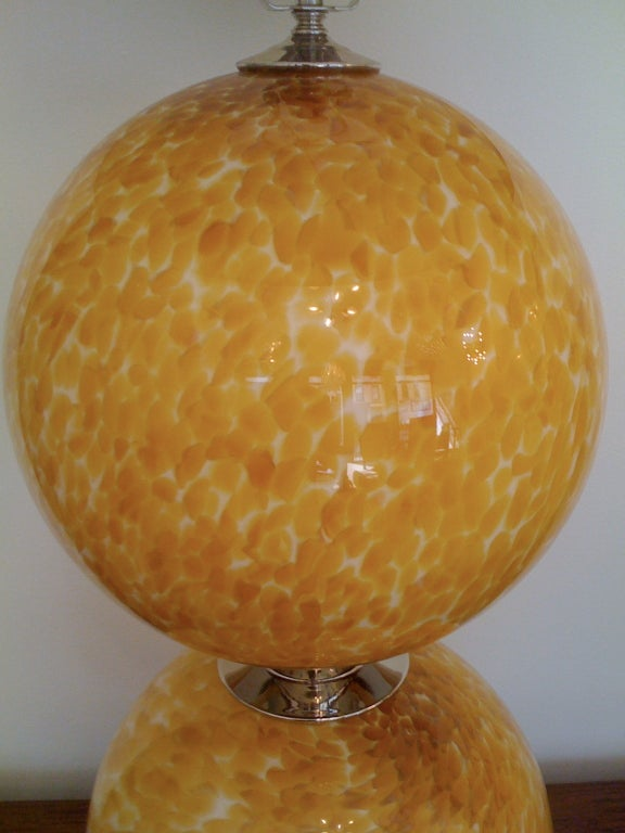 Pair of Murano 1960s Table Lamps In Excellent Condition For Sale In New York, NY