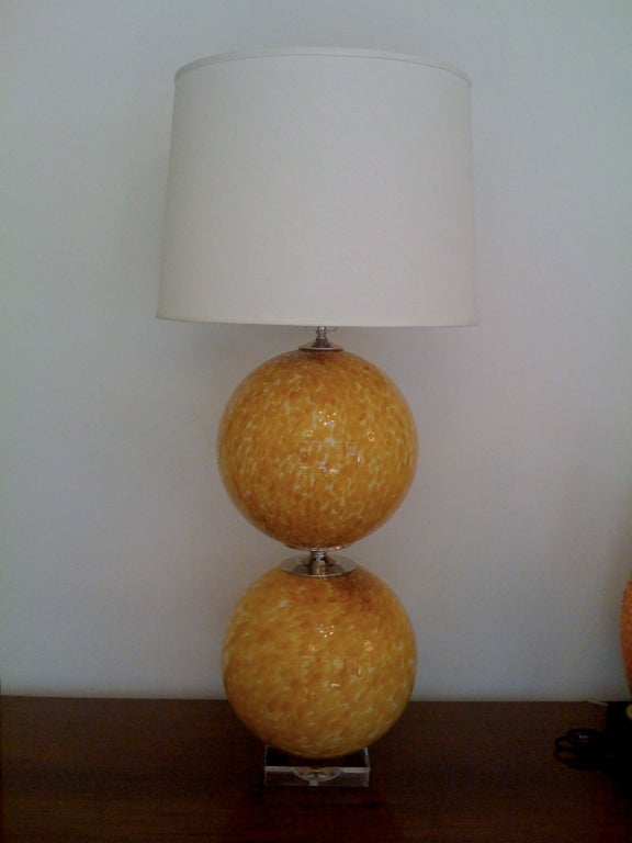 Mid-20th Century Pair of Murano 1960s Table Lamps For Sale