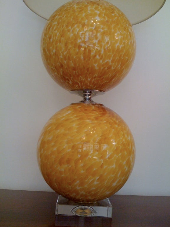 Pair of Murano 1960s Table Lamps For Sale 1