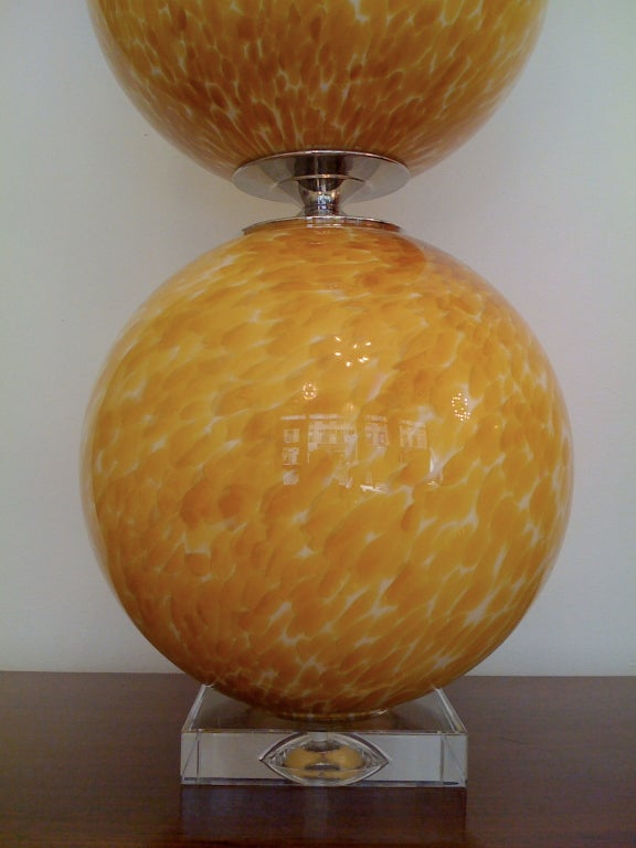 Pair of Murano 1960s Table Lamps For Sale 2
