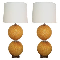 Pair of Murano 1960s Table Lamps