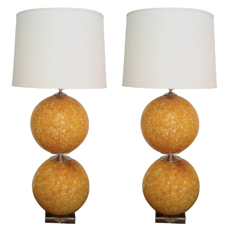 Pair of Murano 1960s Table Lamps For Sale
