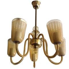 Austrian Deco Glass Chandelier