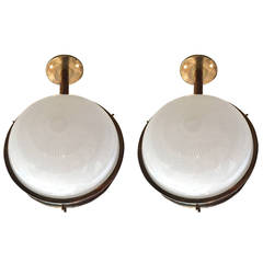 Pair of Sergio Mazza Ceiling Wall Lights