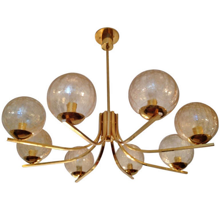 German High Style 70s Chandelier At 1stdibs