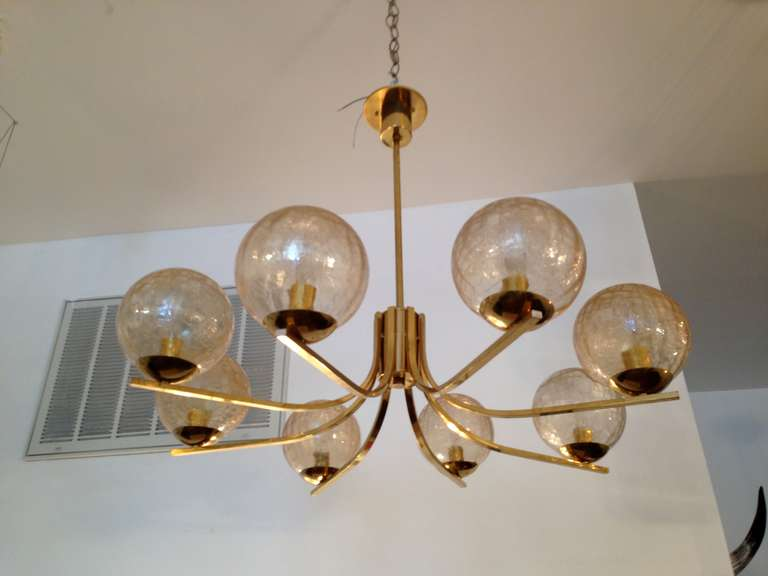 German Quot High Style Quot 70s Chandelier At 1stdibs