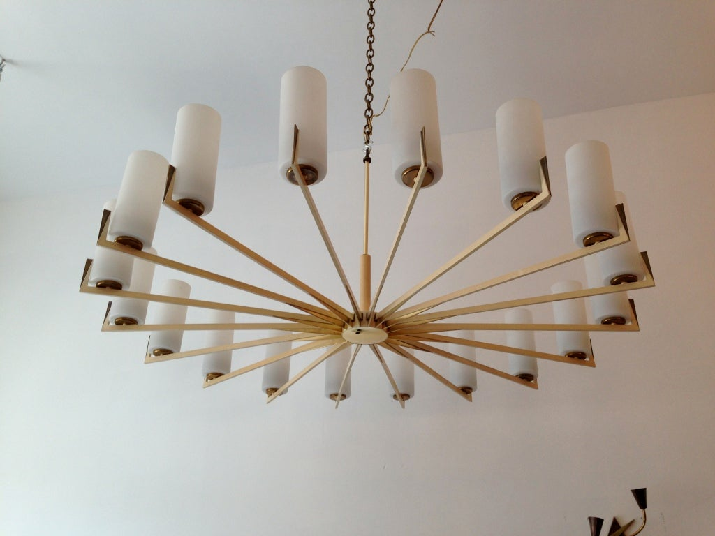 Pair of ballroom italian 50s sun chandeliers at 1stdibs pair of ballroom italian 50s sun chandeliers in excellent condition for sale in new arubaitofo Image collections