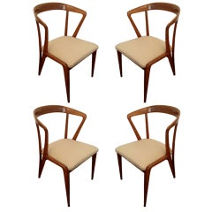 Set of Four/ Eight Bertha Schaefer Dining Chairs