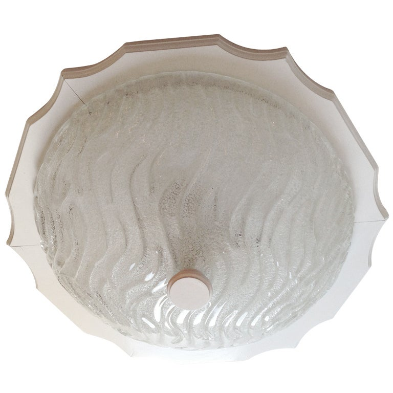 German 1960s Blown Glass Flush Ceiling Light For Sale At